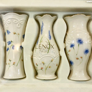 Lenox Set of 3 Floral 5 Bud Vases